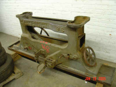 Jointer upside down at auction.