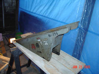 Fay and Egan 316 Jointer infeed sled.