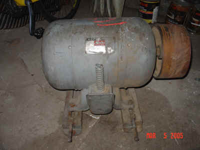 7.5 hp Westinghouse motor that came with jointer.