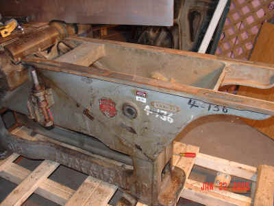Jointer with infeed table removed.
